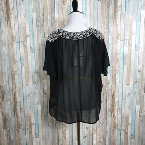 Joie Tops - NWT Joie XS Embroidered 100% Silk Roman Blouse Top